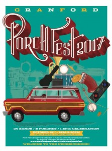 Cranford Porchfest 2017: 24 Bands, 8 Porches, 1 Epic Celebration!  10/21/17   2-5pm