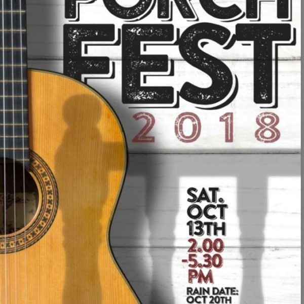 Cranford Porchfest 2018: This Saturday (10/13/18) and Bigger Than Ever!