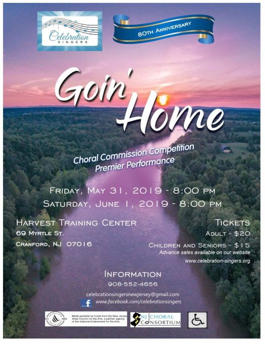 "All are Invited to The Celebration Singers ""Goin' Home"" 80th"