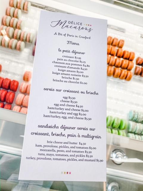 Délice Macarons Flavors