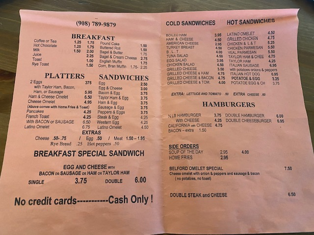 Jerry's Sandwich Shop Luncheonette